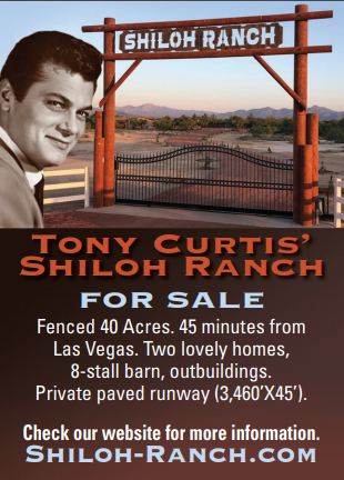Tony Curtis' Shiloh Ranch for sale. 40 Fenced Acres. Contact Albert Marquis